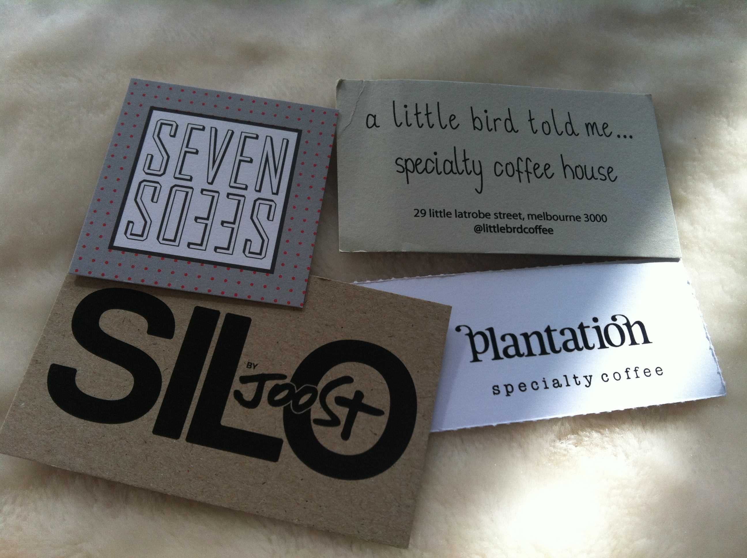 Business cards for cafes