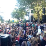 Mass sit-down in front of Dept of Immigration, Melbourne. Photo- Katie Coulthard